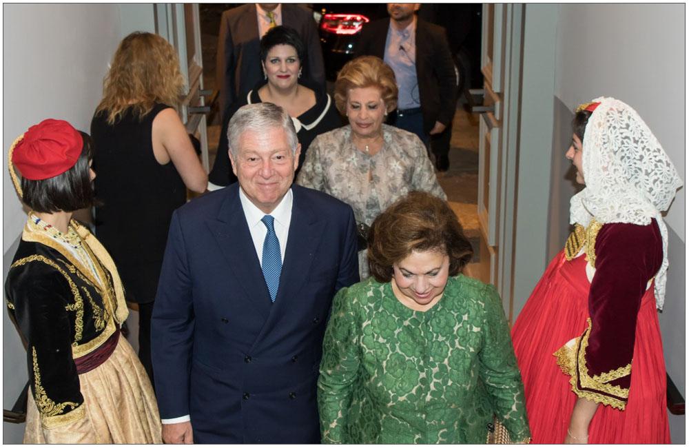 Η είσοδος του Πριγκιπικού Ζεύγους στο χώρο της εκδήλωσης::::The entrance to the Principal Pair at the event
