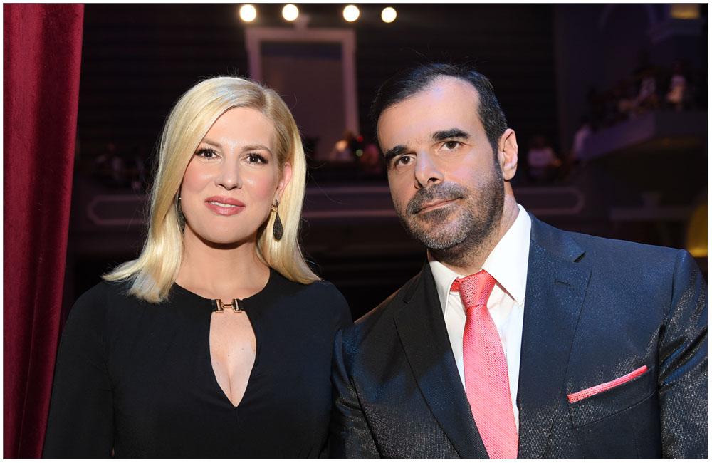 Οι παρουσιαστές της βραδιάς κα Ράνια Θρασκιά και ο κ. Κωνσταντίνος Φλαμής::::The presenters of the evening, mrs. Rania Thraskia and mr. Konstantinos Flamis