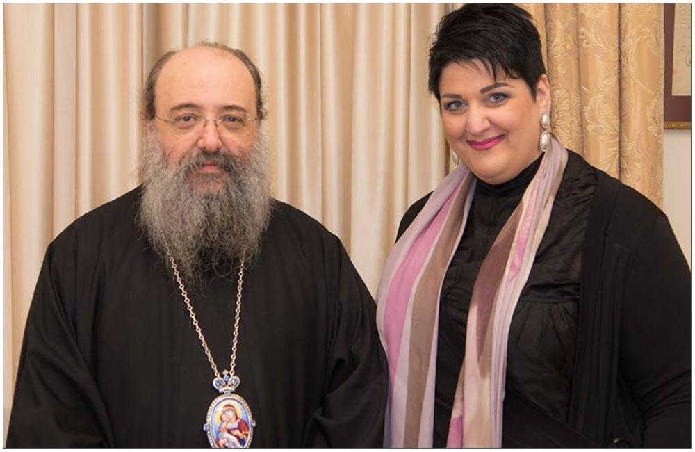 bishop-of-patras-xrisostomos-with-anna-maria-rogdaki-proedros-enosis-gynaikon-patras