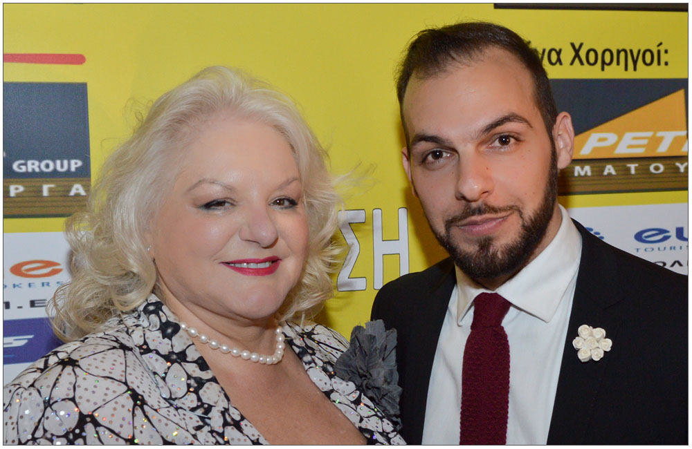 Το τιμώμενο πρόσωπο της βραδιάς κα Ρόη Αποστολίδου Κωσταντά με τον κ. Γιώργο Παπαδημητρακόπουλο:::: The evening's guest of honor, mrs. Roy Apostolidou Costanta with mr. George Papadimitrakopoulo
