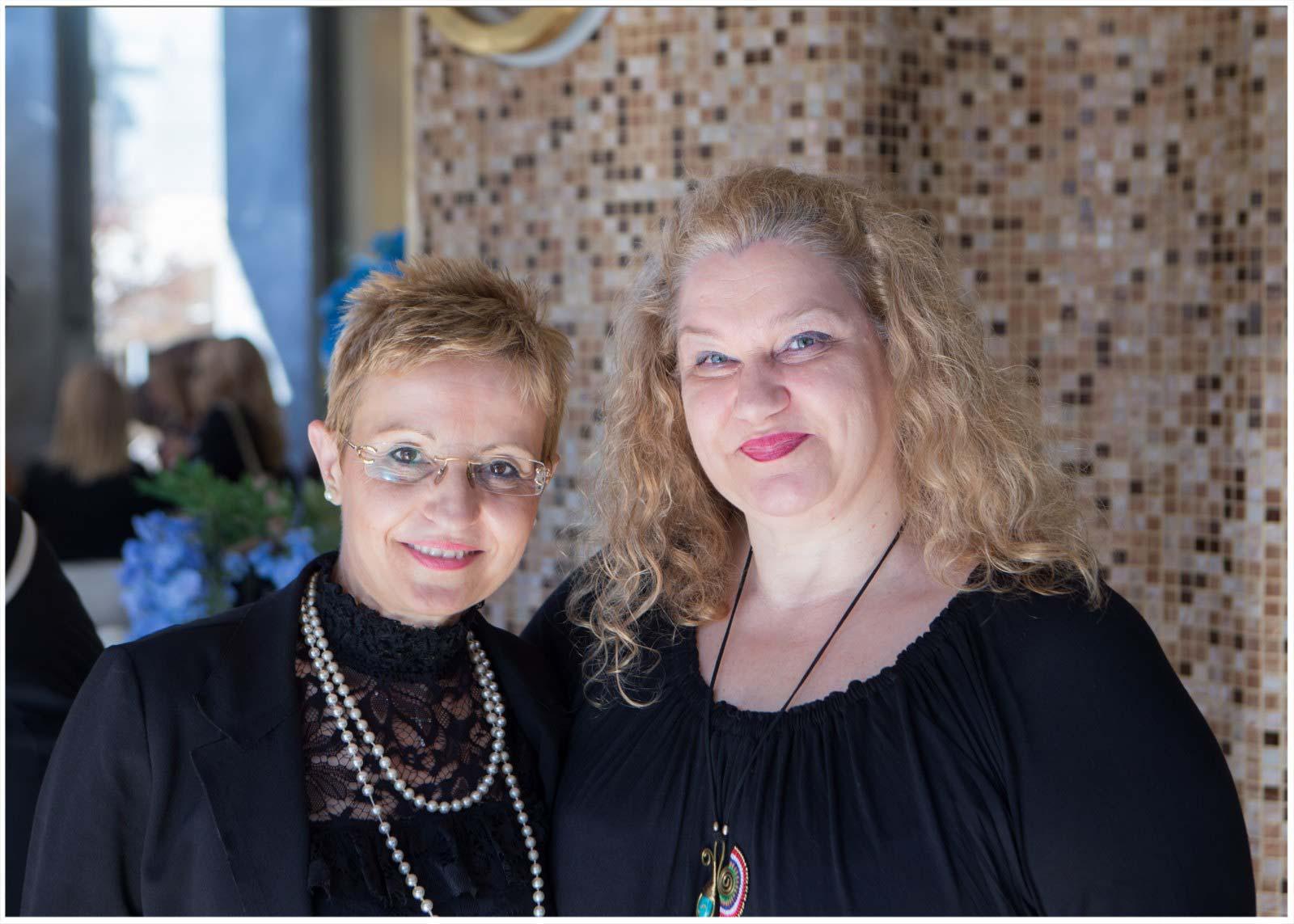 Η Ταμίας του Συλλόγου κα Ελένη Σαράντη με την Γενική Γραμματέα κα Ρούλα Μιχαλοπούλου